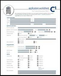 C1 Application Worksheet